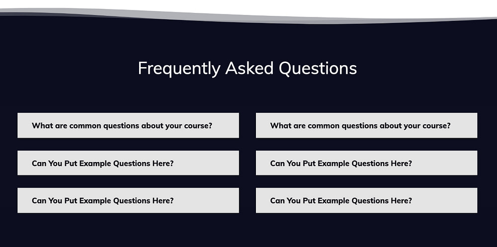 How to create an FAQ section for your online course sales page