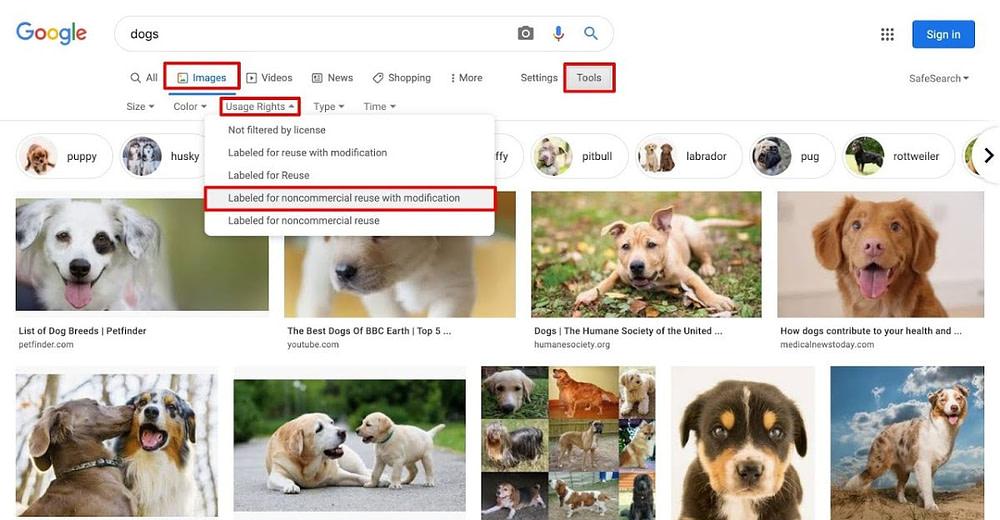 Google Creative Common Search
