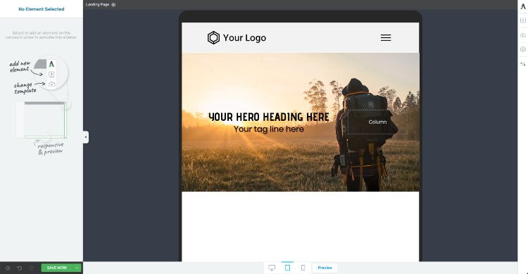 Optimize your hero image for tablet