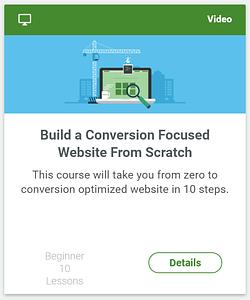 Conversion focused website
