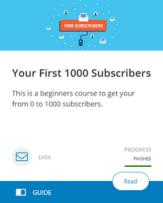 Your First 1000 Subscribers