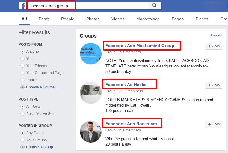 find contractors in Facebook groups