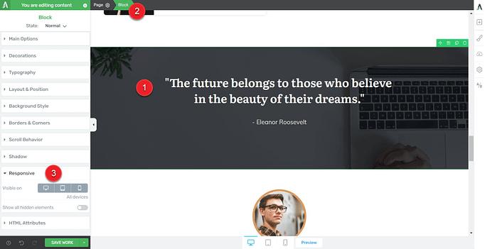 Thrive Themes responsive tab