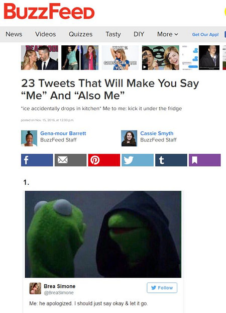 Buzzfeed's listicle without an intro
