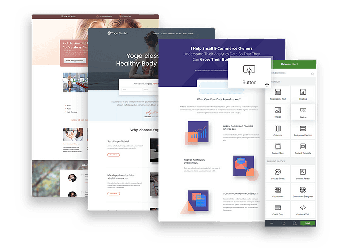Thrive Themes Architect landing pages