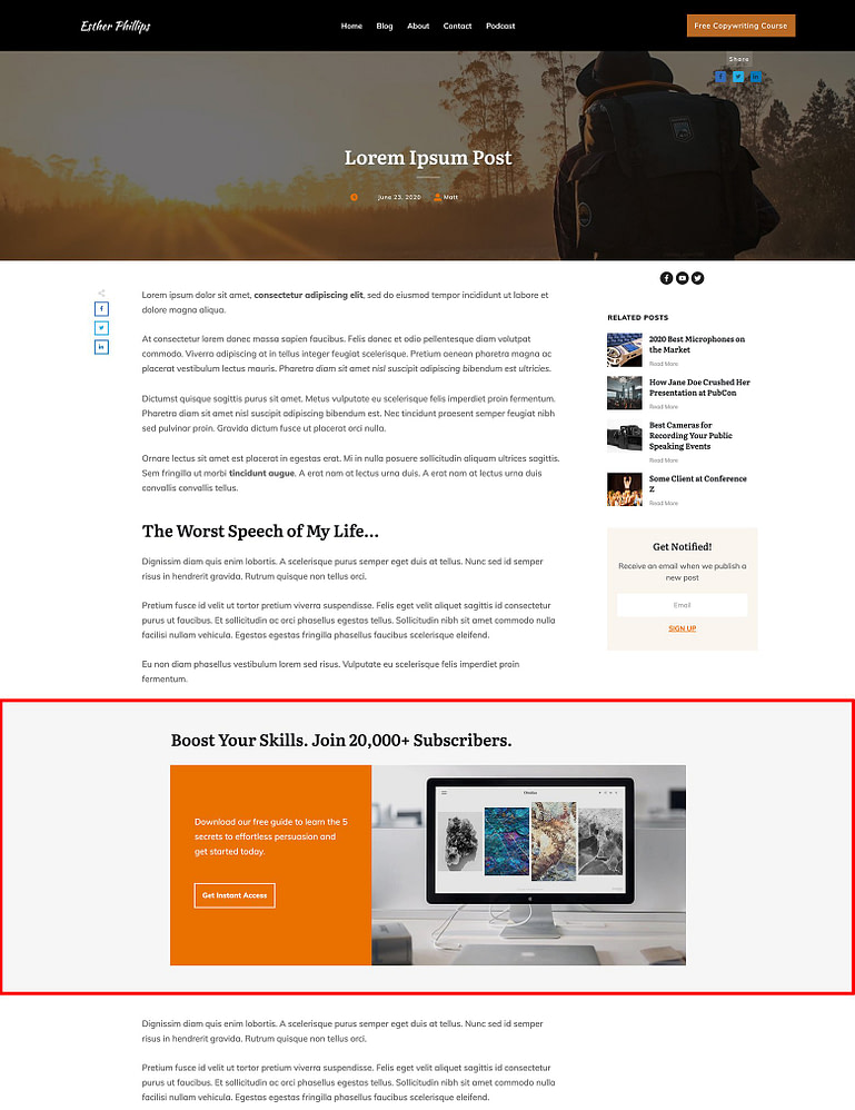 You can make your Block template designs use the full screen width on a blog post