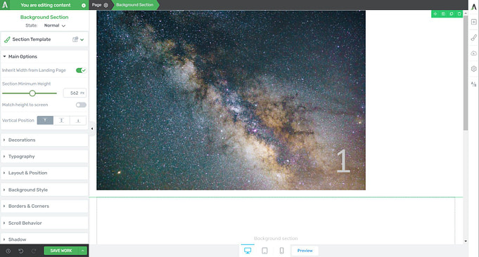 Layered elements in Thrive Themes
