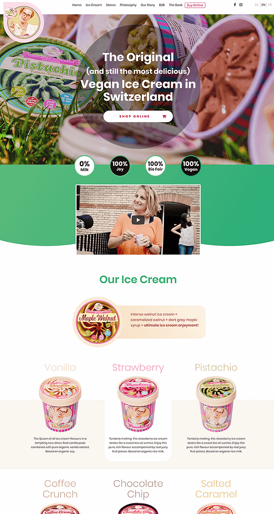 Screenshot of the website redesigned and improved The Green Fairy homepage, made by the Thrive Themes team.