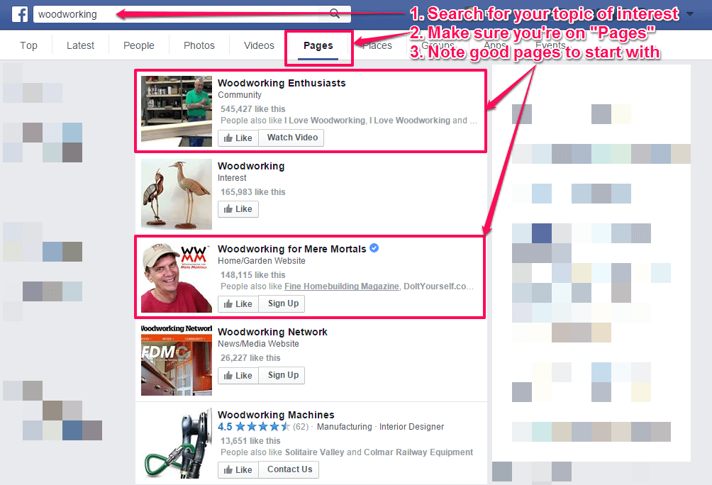 Searching for FB Topic