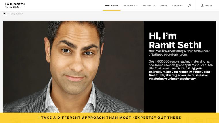 Ramit Sethi's About Page
