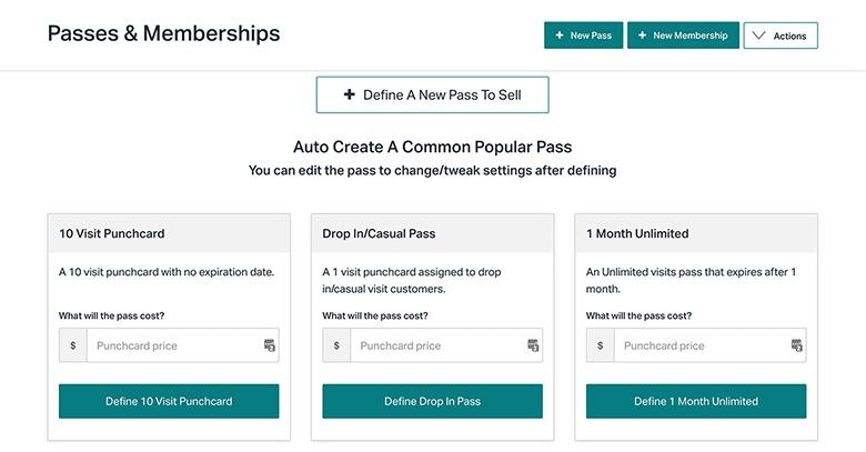 Punchpass passes & membership options