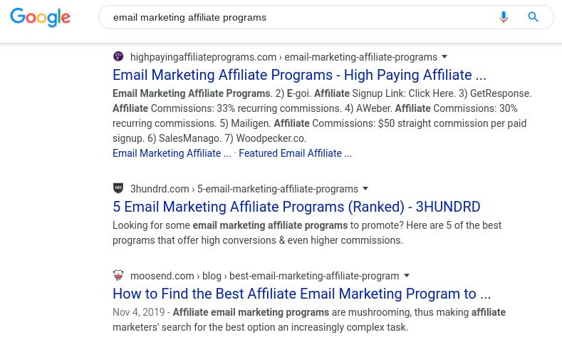 find affiliate programs