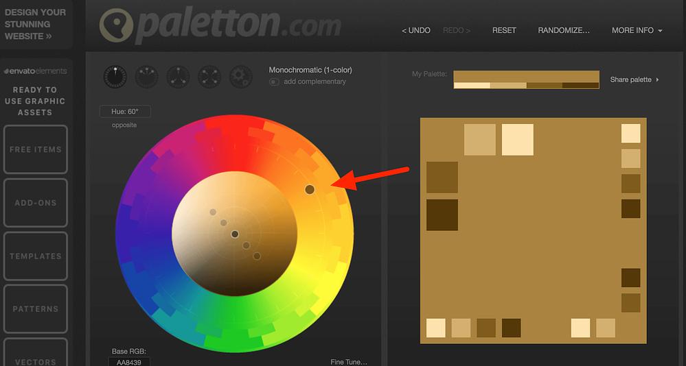 Paletton - select your website color palette