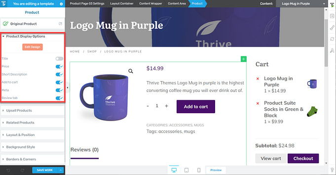 WooCommerce Product display options