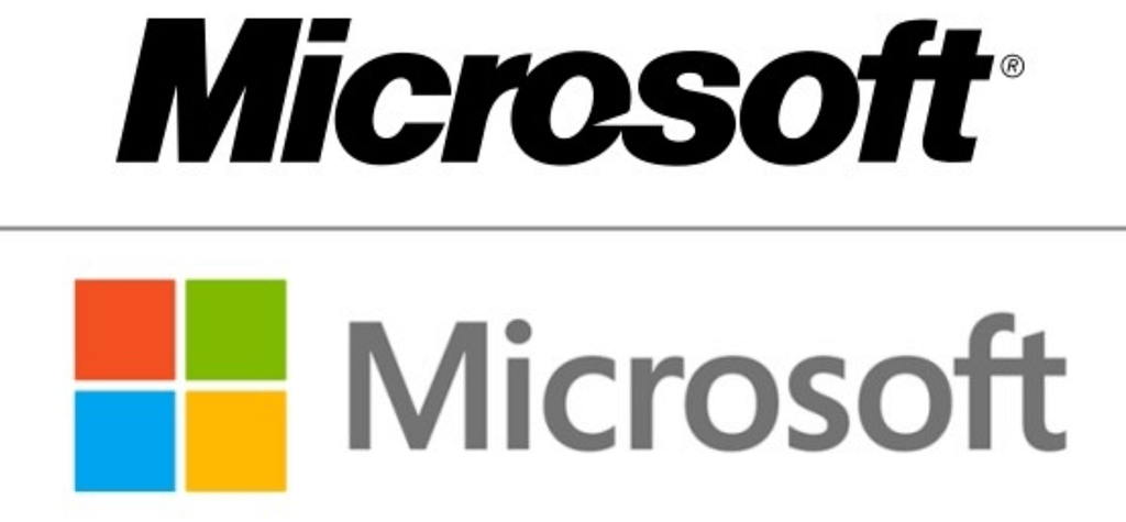 Color Schemes of the Microsoft Logo