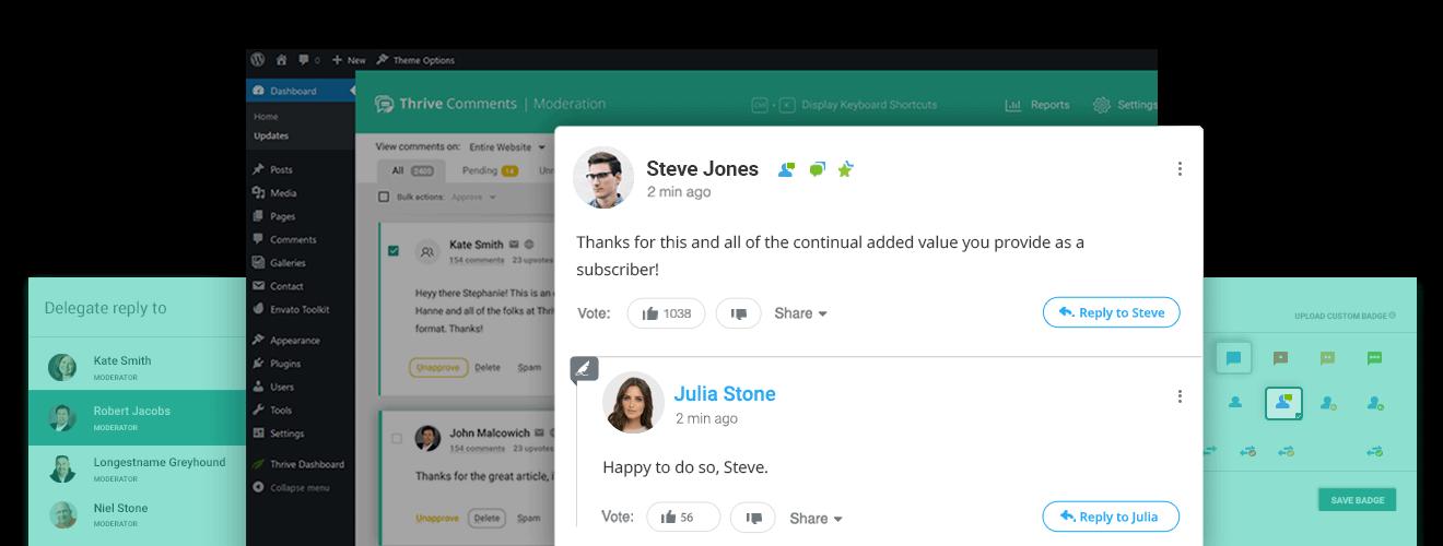 Thrive Comments Plugin Design