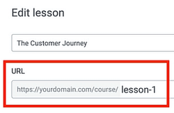 Change URLs for Courses & Lessons
