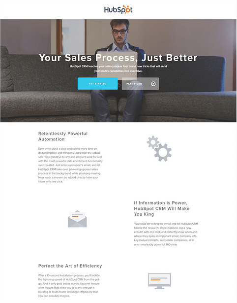 Landing page with Conversion goal