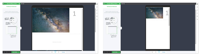 Layered elements in Thrive and mobile responsiveness