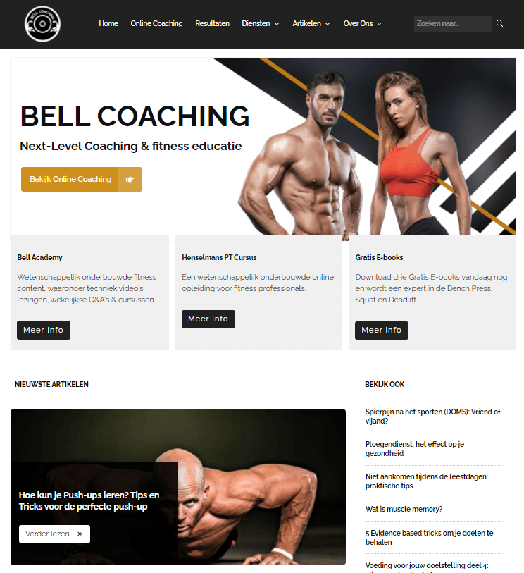 Bell Coaching's homepage