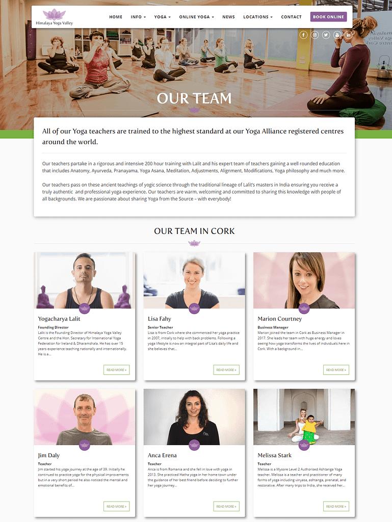 Himalaya Yoga Valley Team Page