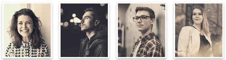 Team photo images in sepia polaroid style