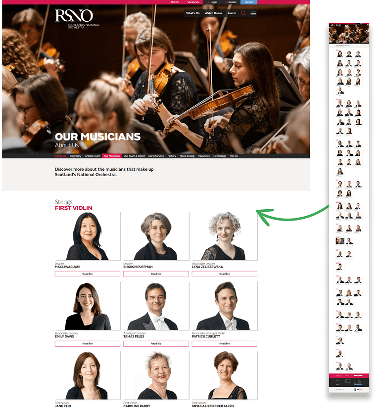 Royal Scottish National Orchestra Team Page