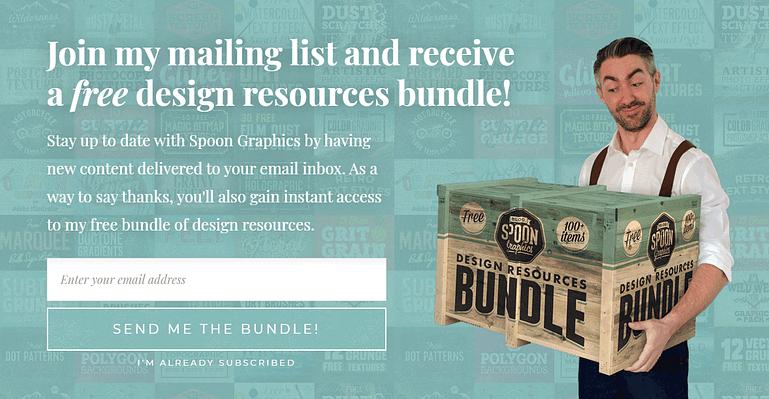 Free design resources bundle - Spoon Graphics