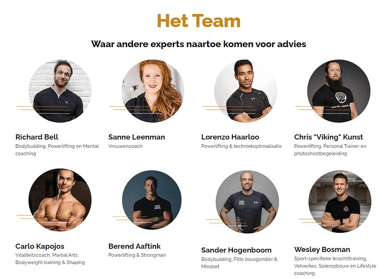 WordPress team page design