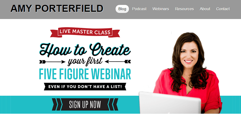Amy Porterfield opt in page