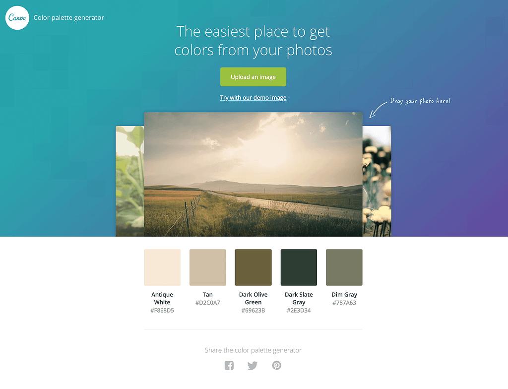 Canva Color Palette Generator