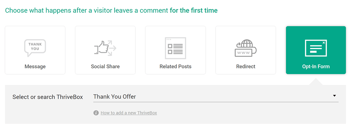 Opt-In Form Post Comment Action