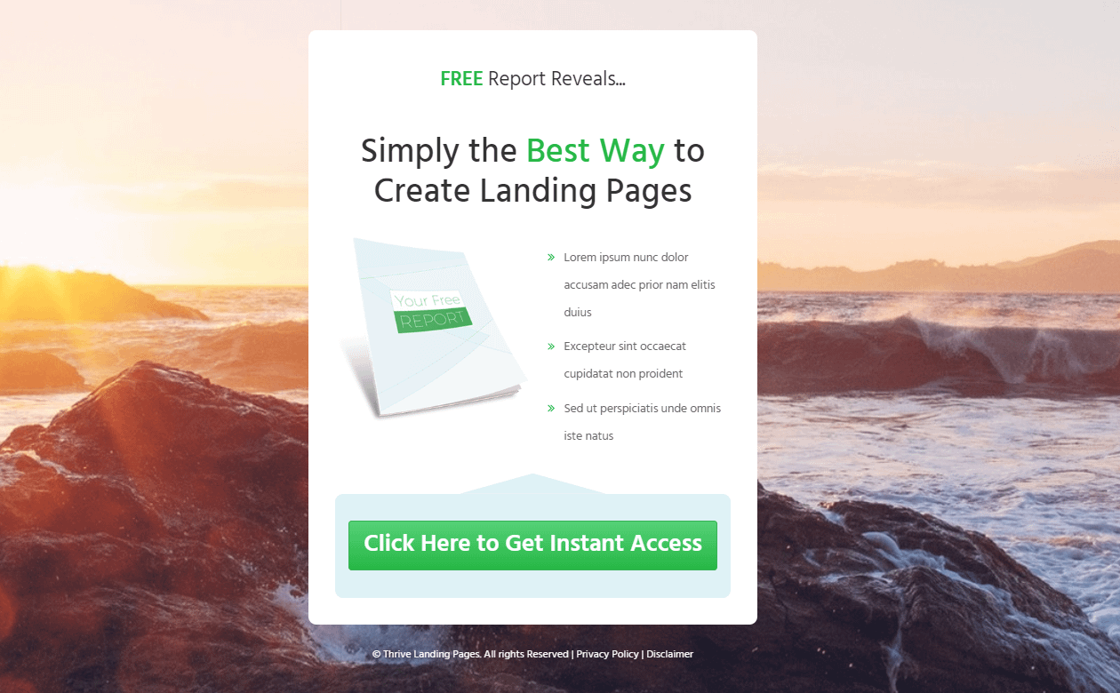 squeeze landing page