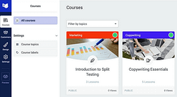 New User Interface for Thrive Apprentice