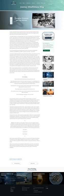 Journey Mindfulness blog post design