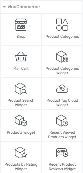 WooCommerce elements in Thrive Architect