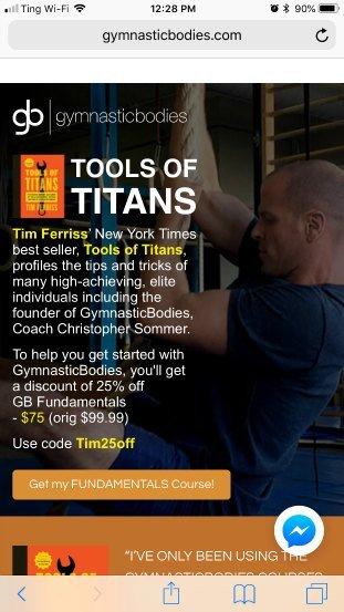 Gymnastic Bodies sales page bad example