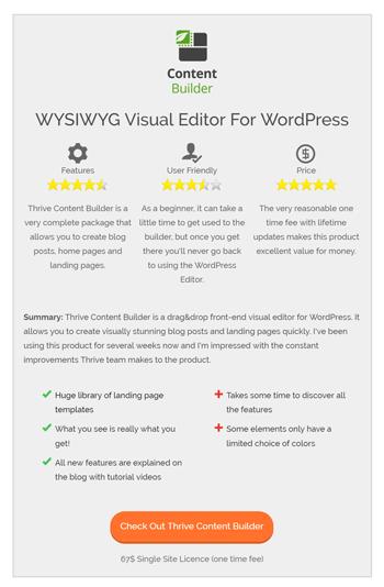 review summary box