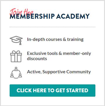 "Membership promotion design from ""The Membership Guys"""