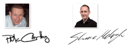 Paul and Shane Signatures