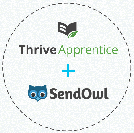 Thrive Apprentice + SendOwl logos
