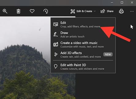 Crop feature in Windows