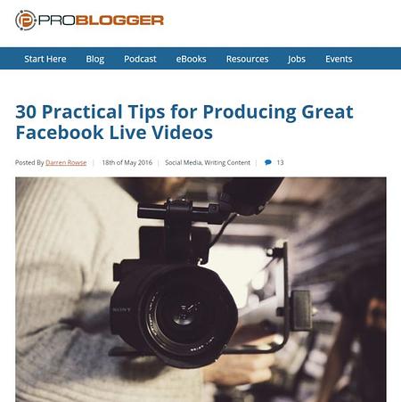 PROblogger's list post title