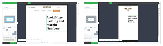Mobile responsive using maximum width and right alignment