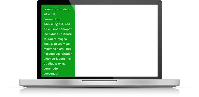 Fixed width percentage on desktop