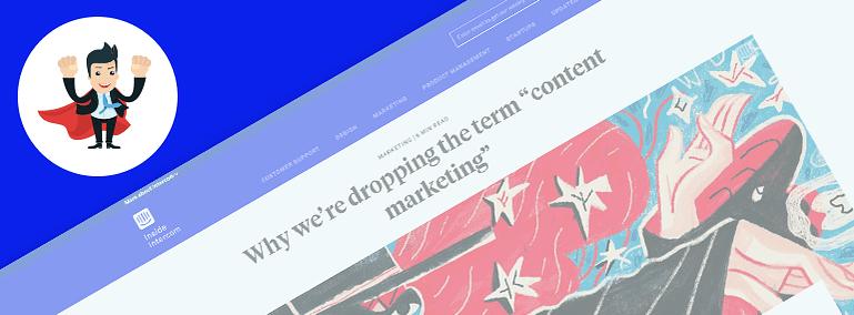 Story & Branding Content on Inside Intercom's Website