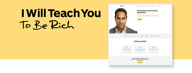 Types of Content on Ramit Sethi's Website