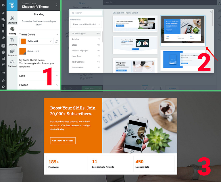 Block templates are Smart Color enabled for sites using Thrive Theme Builder.