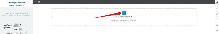 How to open the Page Block Template library in Thrive Architect.