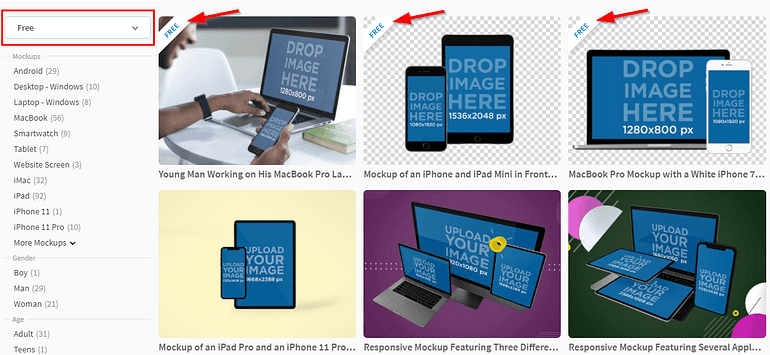 How to find free templates in Placeit